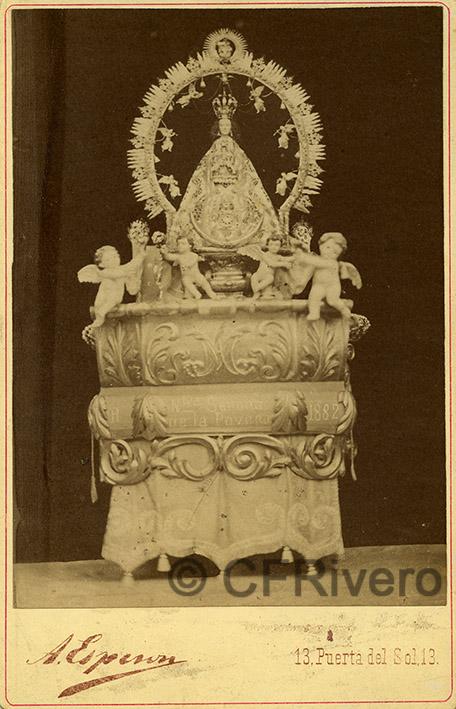 Alfredo Esperon. Nuestra Señora de la Poveda. Villa del Prado (Madrid), 1882. Cabinet en albúmina (CFRivero)