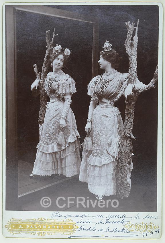 Antonio Palomares. Retrato de Conchita de la Bastida. Córdoba, 1899. Cabinet en albúmina. (CFRivero)