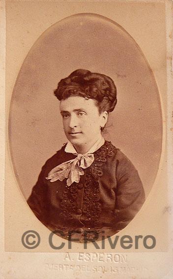 Alfredo Esperon. Retrato de señora. Madrid, ca. 1875. Carte de visite en albúmina (CFRivero)
