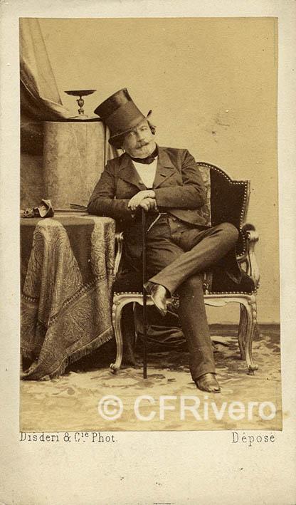Disdéri. Retrato de Napoleon III sentado. París. 1860/65. Carte de visite en albúmina (CFRivero)