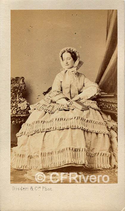 Disdéri. Emperatriz Eugenia de Montijo. París c.a. 1860. Carte de visite en albúmina (CFRivero)