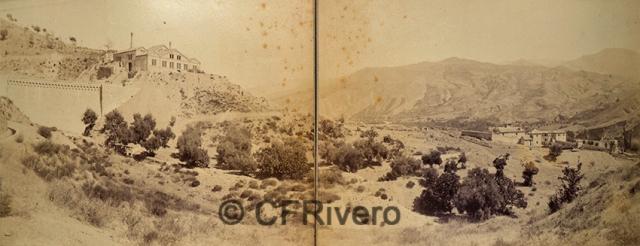 Edmond Guillemin-Tarayre. Vue générale de la Vallée du Genil. Barrage, usine, Ferme de la Lancha. Granada. 1888. Albúmina (CFRivero)