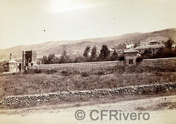 Guillemin-Tarayre, Edmond. Vue genèrale de la route de Cenes. Granada, Lancha del Genil. 1888. Albúmina (CFRivero)
