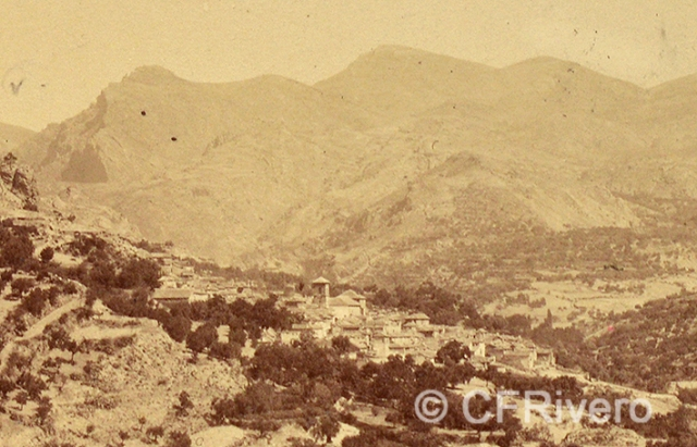 Edmond Guillemin-Tarayre. Village de Quentar (detalle). Granada. 1888. Albúmina (CFRivero)