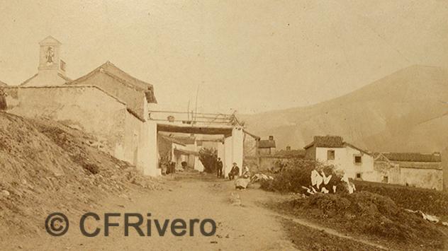 Edmond Guillemin-Tarayre. Entrée du village de Cenes (detalle). Cenes de la Vega (Granada). Albúmina, 1888 (CFRivero)