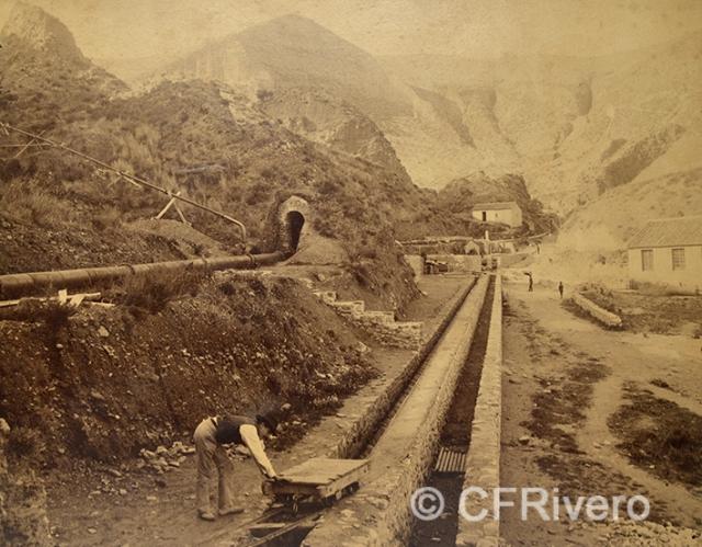 Edmond Guillemin-Tarayre. Premiére travèe des laveries. Granada, Mina del Hoyo de la Campana. 1888. Albúmina (CFRivero)