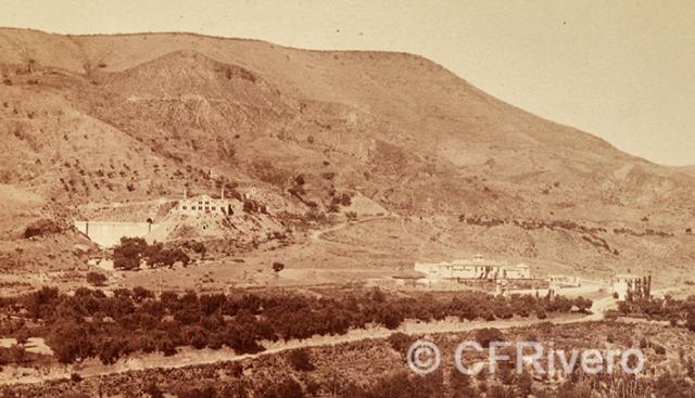 Edmond Guillemin-Tarayre. Vallée du Genil, Cerro del Sol, Usine, Canal d'amenée. Etablissement de La Lancha. Albúmina. C.a. 1888 (CFRivero)