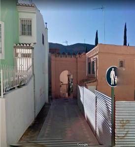"""Arco árabe de """"La Casa de las Gallinas"""", calle Clarín nº 7, Granada"""
