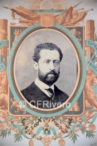 Leopoldo Rovira. Retrato de Francisco Romero Robledo (Galería de los Representantes de la Nación). 1869. Albúmina. (CFRivero)