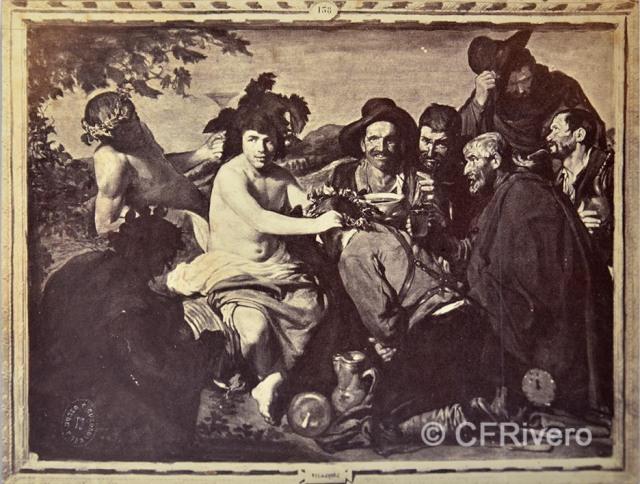 """Jean Laurent. Reproducción del cuadro de Velázquez """"Los borrachos"""" o """"El triunfo de Baco"""". Albúmina 166x127 mm. (CFRivero)"""
