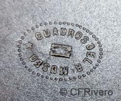 Jean Laurent. Detalle del sello seco con la inscripción: CUADROS DEL R. MUSEO. Ca. 1860 (CFRivero)