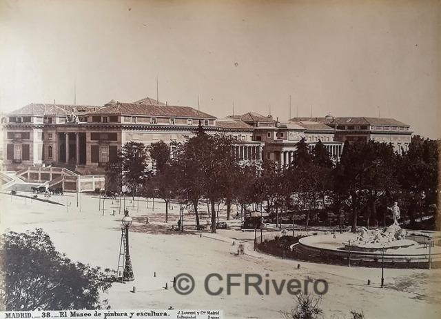 Jean Laurent. Madrid 38 El Museo de pintura y escultura. 1870d. Albúmina (CFRivero)