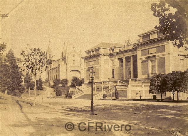 Lacoste. Madrid, fachada Norte del Museo del Prado e Iglesia de los Jerónimos. 1900/05. Gelatina de plata (CFRivero)