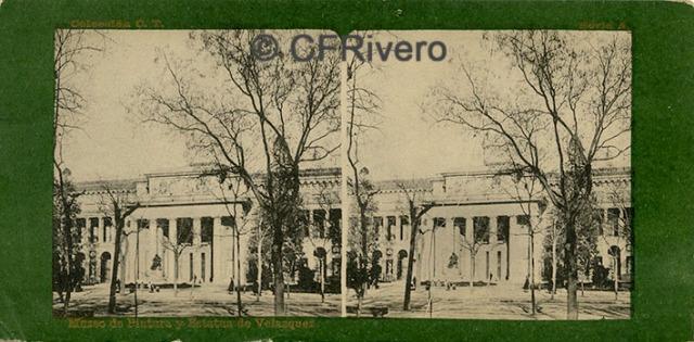 Fototipia Laurent. Museo de Pintura y Estatua de Velázquez. Madrid, 1890/1900. Estereoscopia. Impresión fotomecánica (CFRivero)
