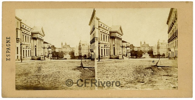 Alexis Gaudin et frère. Madrid, la rue Saint-Jéróme. 1857. Estereoscopia en albúmina (CFRivero)