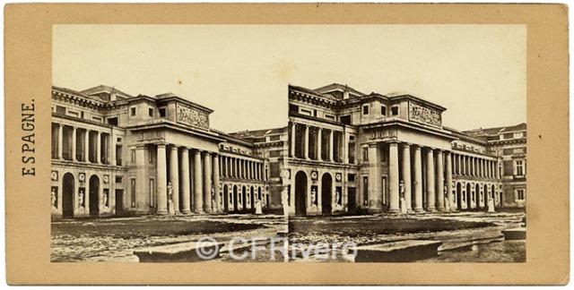 Alexis Gaudin et frère. Façade du Musée des Tableaux. 1857. Estereoscopia en albúmina (CFRivero)