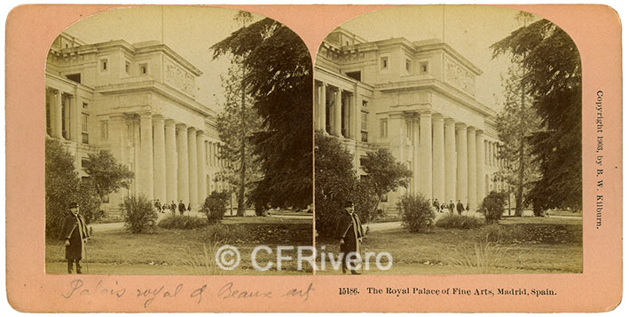 Kilburn. The Royal Palace of Fine Arts. Madrid, Spain. 1903. Estereoscopia en gelatina de plata. (CFRivero)