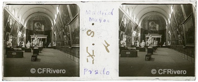 Autor desconocido. Madrid Museo del Prado. 1915. Estereoscopia, gelatina de plata sobre vidrio. (CFRivero)