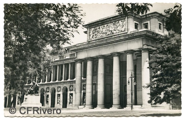 Postales BEA Pep Madrid. Museo del Prado, fachada. 1951. Gelatina de plata. (CFRivero)