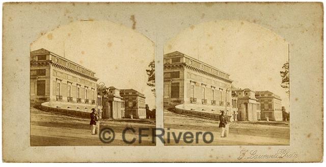 Jean Laurent. Madrid, el Real Museo de Pinturas en El Prado. Ca. 1860. Estereoscopia en albúmina (CFRivero)
