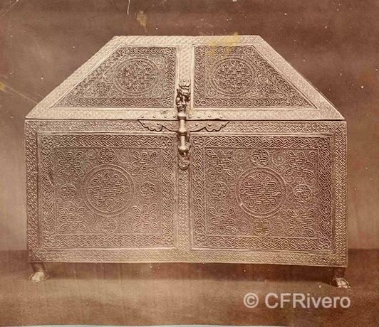 Francis H. Bacon?. Relicario de oro y plata labrada Siglo XIII, Tesoro de la Catedral de Tréveris. 1880d. Albúmina (CFRivero)