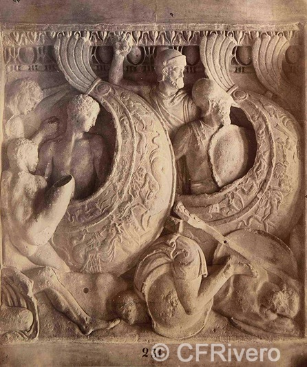 Francis Henry Bacon ?. Detalle de un friso clásico (231). H. 1880. Albúmina (CFRivero)
