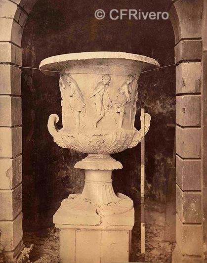 """Francis H. Bacon. Vaso """"Medici"""". Florencia. 1880d. Albúmina (CFRivero)"""