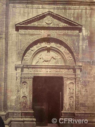 Francis H. Bacon?. Catedral de Como, portada principal. 1880d, Albúmina. (CFRivero)