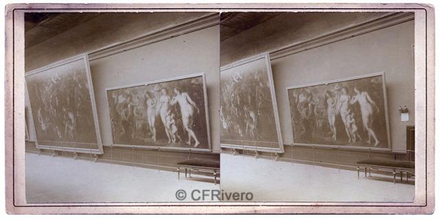 Autor desconocido. Museo del Prado, sala de Rubens. Madrid, ca. 1900. Albúmina (CFRivero)