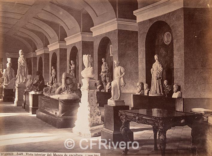 Jean Laurent. Madrid.- 340 Vista interior del Museo de Escultura. ca. 1870. Albúmina (CFRivero)