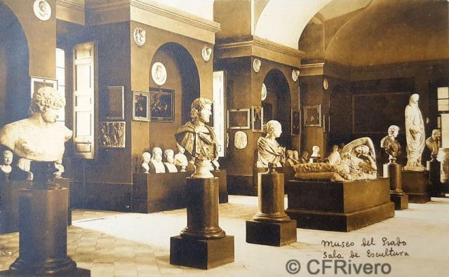 Hauser y Menet. Madrid, Museo del Prado, Sala de escultura. ca. 1930. Tarjeta Postal en impresión fotomecánica (CFRivero)