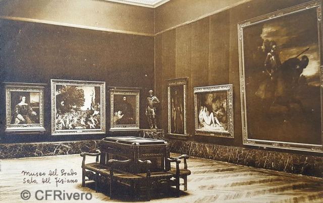 Hauser y Menet. Madrid, Museo del Prado, Sala de Tiziano. ca. 1930. Tarjeta Postal en impresión fotomecánica (CFRivero)