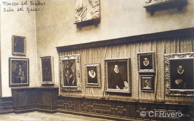 Hauser y Menet. Madrid, Museo del Prado, Sala del Greco. ca. 1930. Tarjeta Postal en impresión fotomecánica (CFRivero)