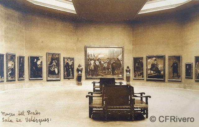Hauser y Menet. Madrid, Museo del Prado, Sala de Velázquez. ca. 1930. Tarjeta Postal en impresión fotomecánica (CFRivero)