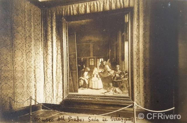 Hauser y Menet. Madrid, Museo del Prado, Sala de las Meninas. ca. 1930. Tarjeta Postal en impresión fotomecánica (CFRivero)
