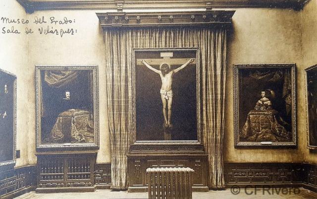 Hauser y Menet. Madrid, Museo del Prado, Sala de Velazquez. ca. 1930. Tarjeta Postal en impresión fotomecánica (CFRivero)