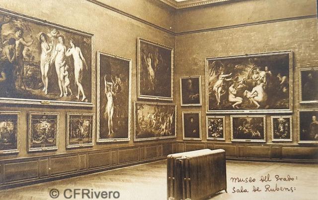 Hauser y Menet. Madrid, Museo del Prado, Sala de Rubens. ca. 1930. Tarjeta Postal en impresión fotomecánica (CFRivero)