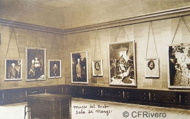 Hauser y Menet. Madrid, Museo del Prado, Sala de Mengs. ca. 1930. Tarjeta Postal en impresión fotomecánica (CFRivero)