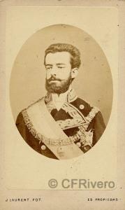 Jean Laurent. Amadeo I de España. 1871. Albúmina (CFRivero)
