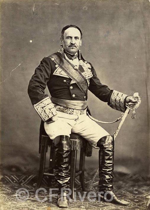 Jean Laurent. Retrato del General Espartero. h. 1865. Albúmina (CFRivero)