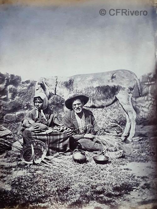 Jean Laurent. Grenade. Tribu de bohemes au bivonac. h. 1870. Albúmina. (CFRivero)