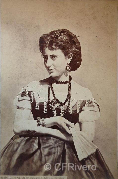 Jean Laurent. Madrid. Dama española. h. 1870. Albúmina (CFRivero)