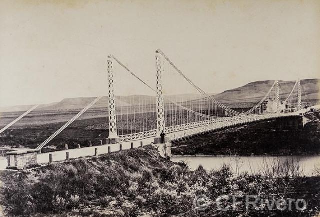 Jean Laurent, José Martínez Sánchez. Provª. de Jaén, Puente de Mengibar. Albúmina. 1866/67. (CFRivero)