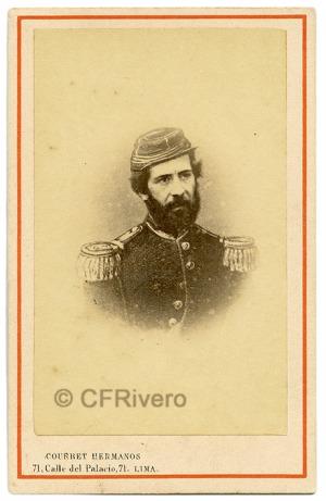 Courret Hermanos. Retrato de José Gálvez Egusquiza. Lima, 1866. Carte de visite en albúmina (CFRivero)