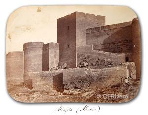 Fernando Guerrero Scholtz. Alcazaba de Almería. Década 1860. Albúmina (CFRivero)
