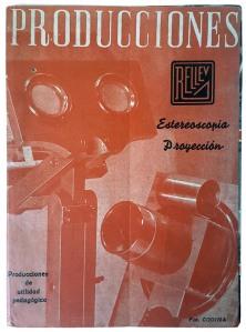 """José Codina Torrás. Portada de folleto publicitario sobre productos de la """"Estereoscopia Rellev"""". Ca. 1941. (CFRivero)"""