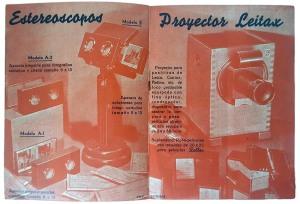 """José Codina Torrás. Páginas interiores del folleto publicitario sobre productos de la """"Estereoscopia Rellev"""". Ca. 1941. (CFRivero)"""