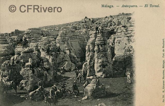Sabina Muchart. Málaga - Antequera - El Torcal. Tarjeta postal ed. R. Álvarez Morales. H. 1901. (CFRivero)