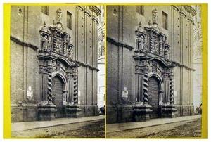 250. Frank Good. [Zaragoza. San Felipe] Estereoscopia en albúmina. 1869