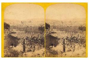 254. Frank Good. [Barcelona, panoramica desde Montjuich]. Estereoscopia en albúmina. 1869